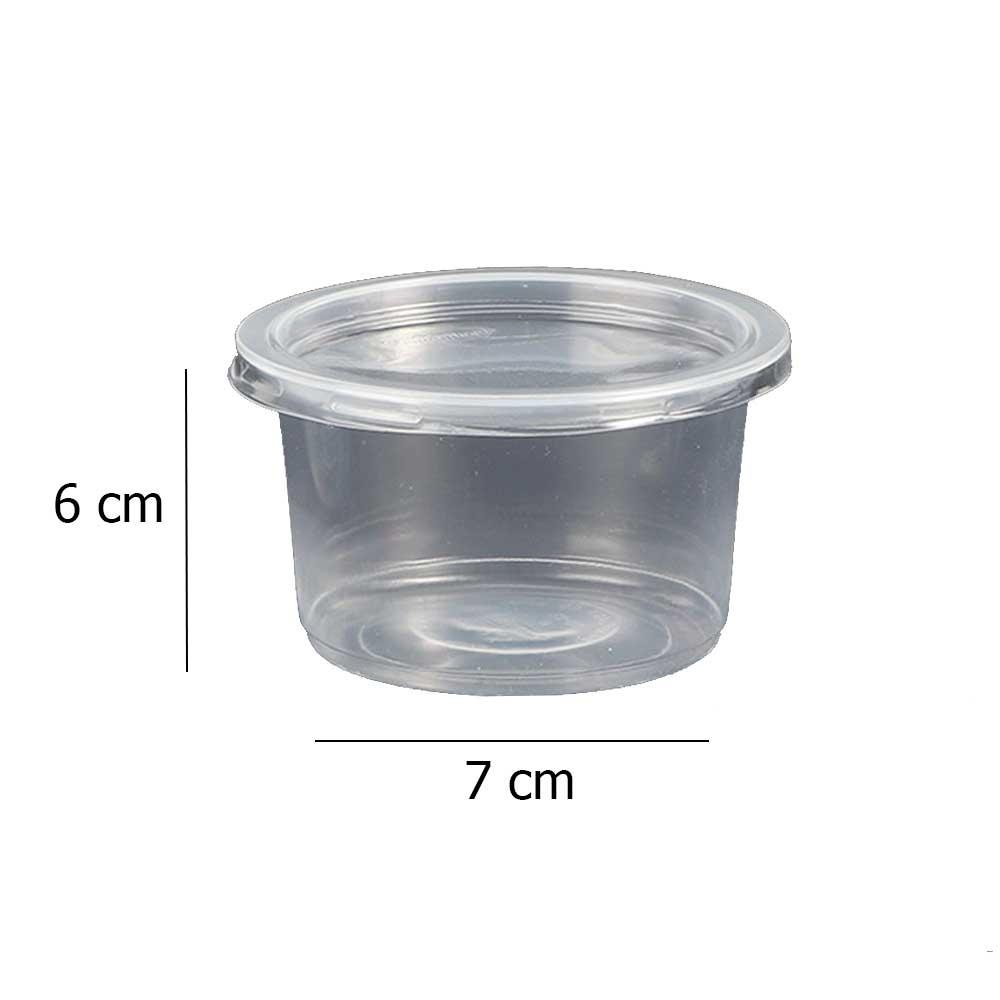 علبة بلاستيكية دائرية شفافة بغطاء شفاف 220مل 18 قطعة متجر 15 وأقل