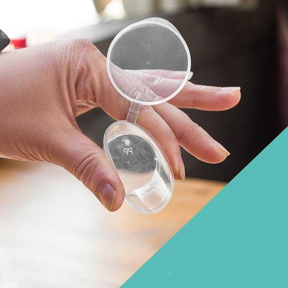 علب بلاستيكية دائرية شفافة مع غطاء 3*3 سم 40 قطع متجر 15 وأقل