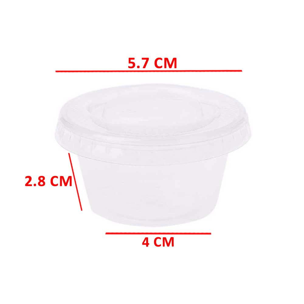 علب بلاستيكية دائرية شفافة مع غطاء 4*3 سم 40 قطع متجر 15 وأقل