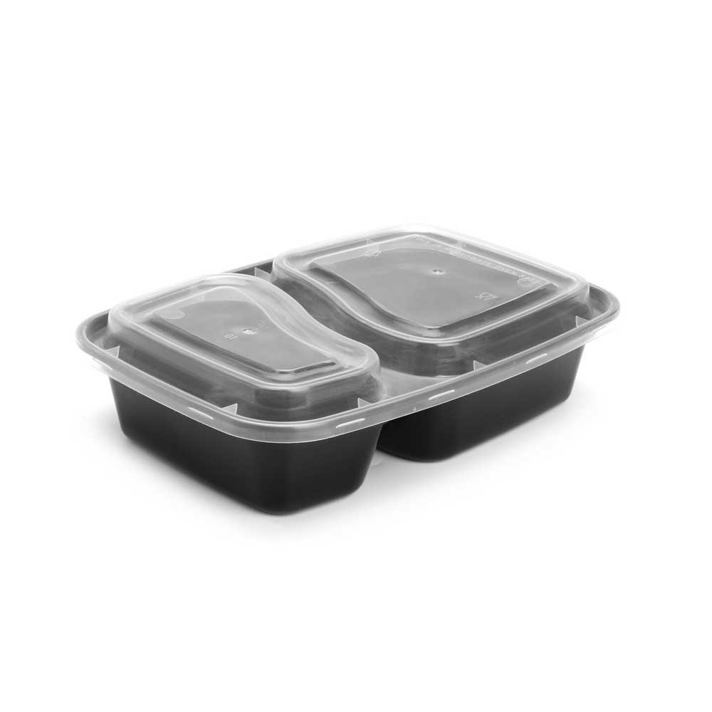 Black plastic boxes divided with cover 3 pieces متجر 15 وأقل