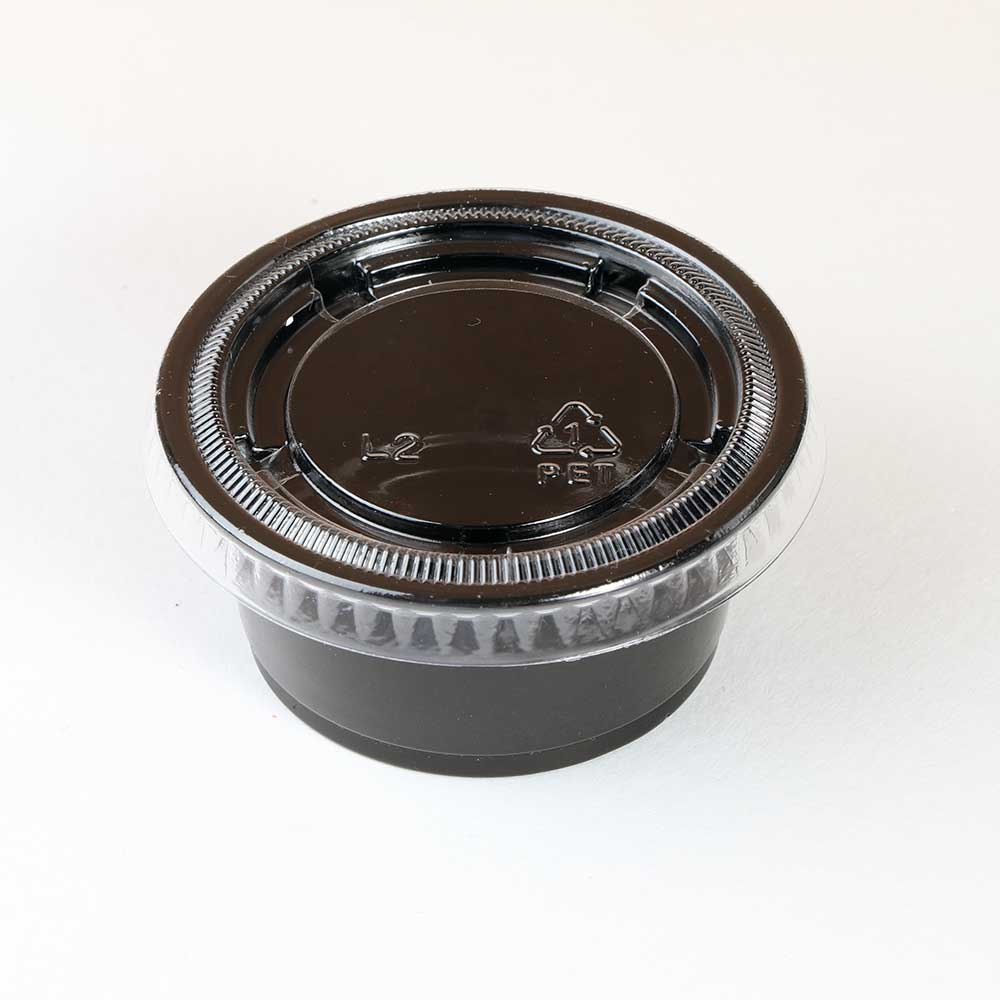 Black plastic boxes with lid 2 ounce 100 PCs متجر 15 وأقل