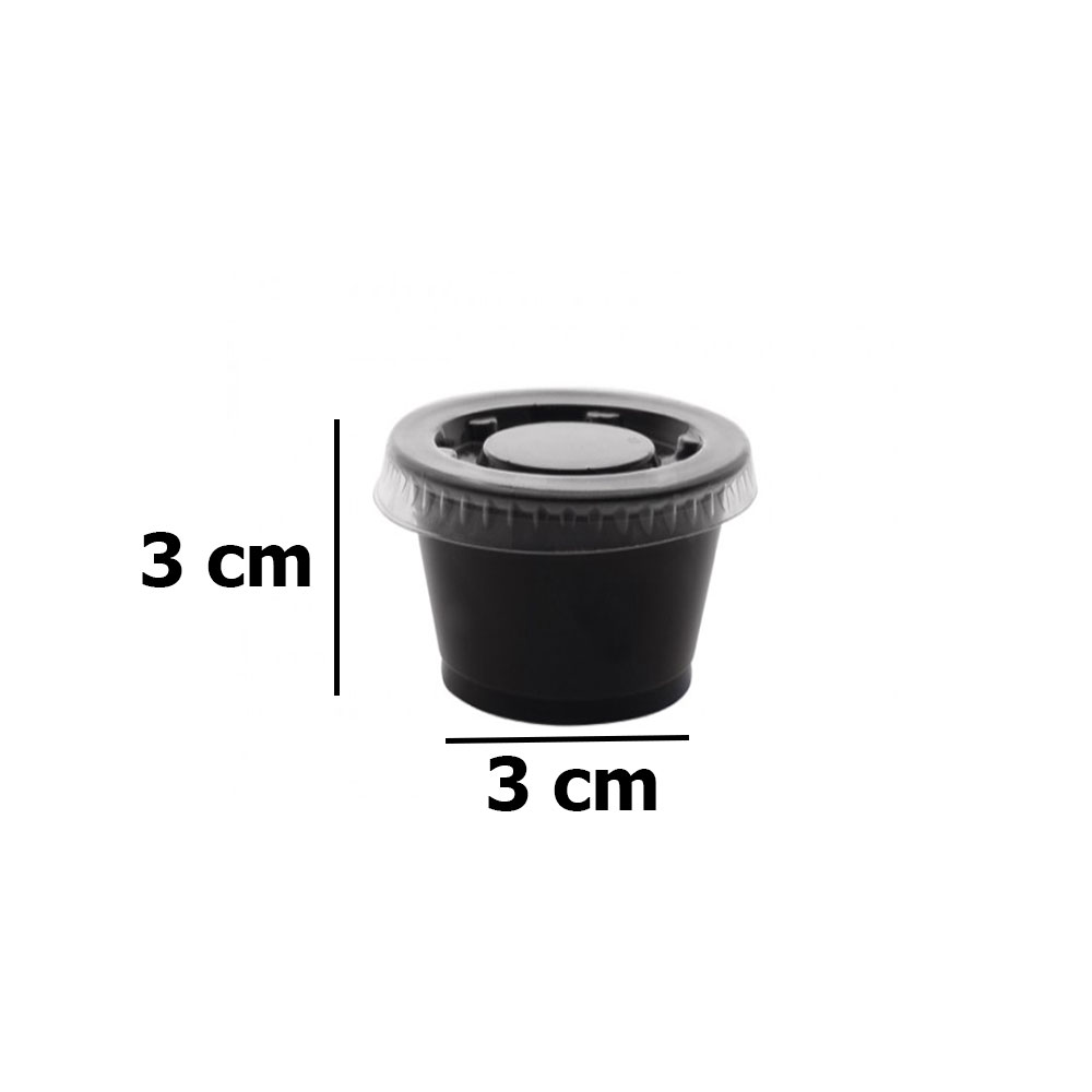 Black plastic boxes with lid 1 ounce 100 PCs متجر 15 وأقل