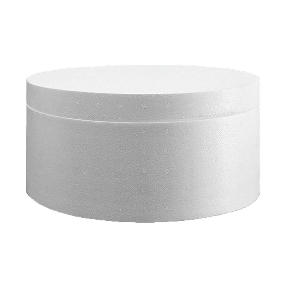 علبة فلين دائرية بيضاء بغطاء متجر 15 وأقل