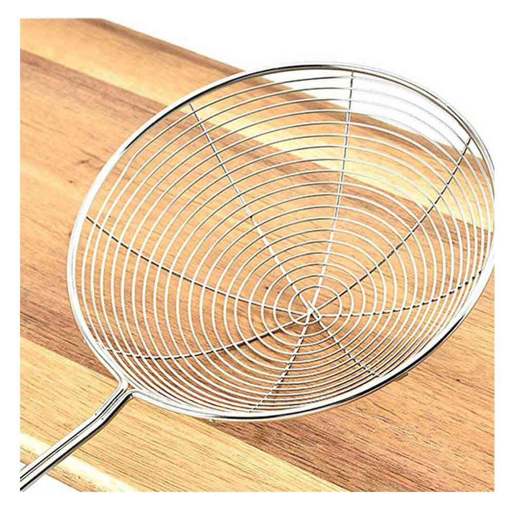 Metal frying strainer with a metal handle 17 cm متجر 15 وأقل