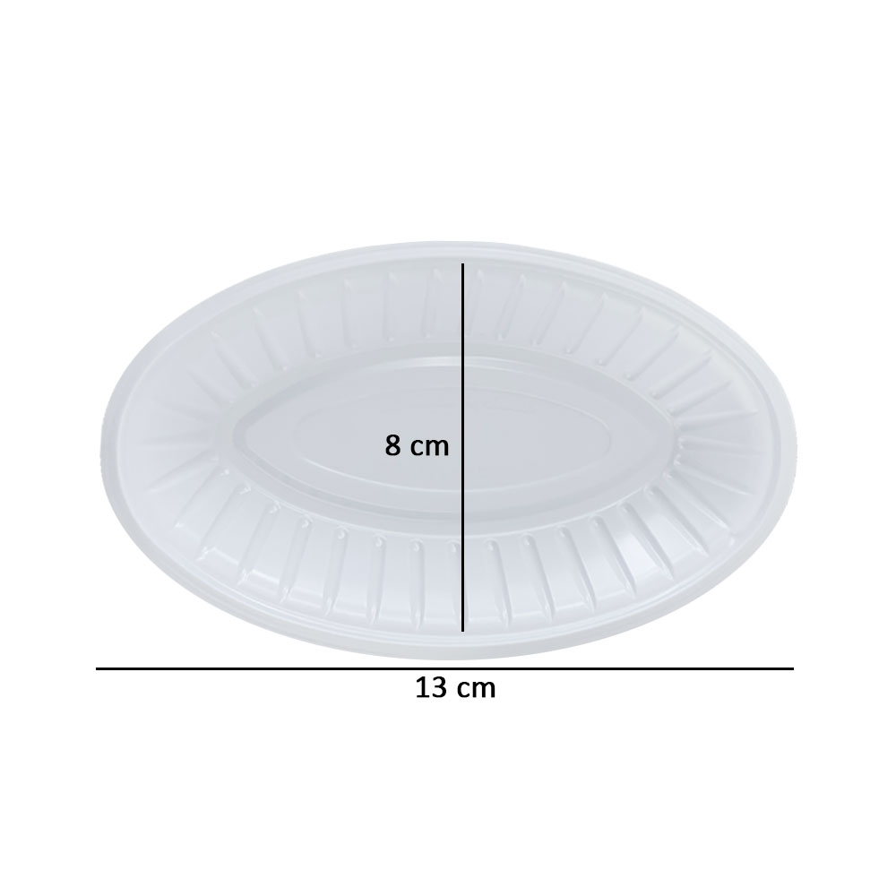 Plastic oval plates size (1/2) 50 pieces متجر 15 وأقل