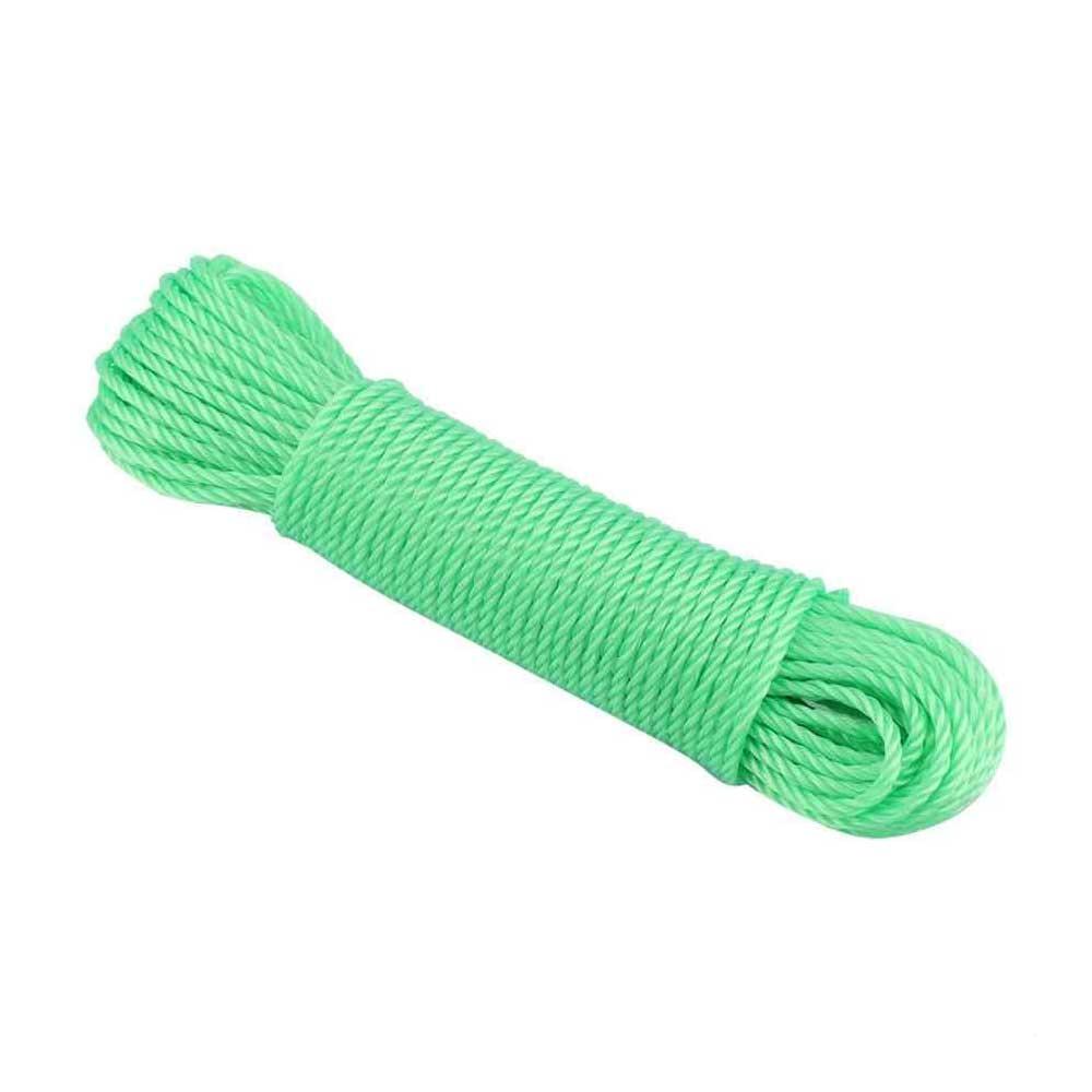 حبل نايلون طوله 10 أمتار لونه أخضر متجر 15 وأقل