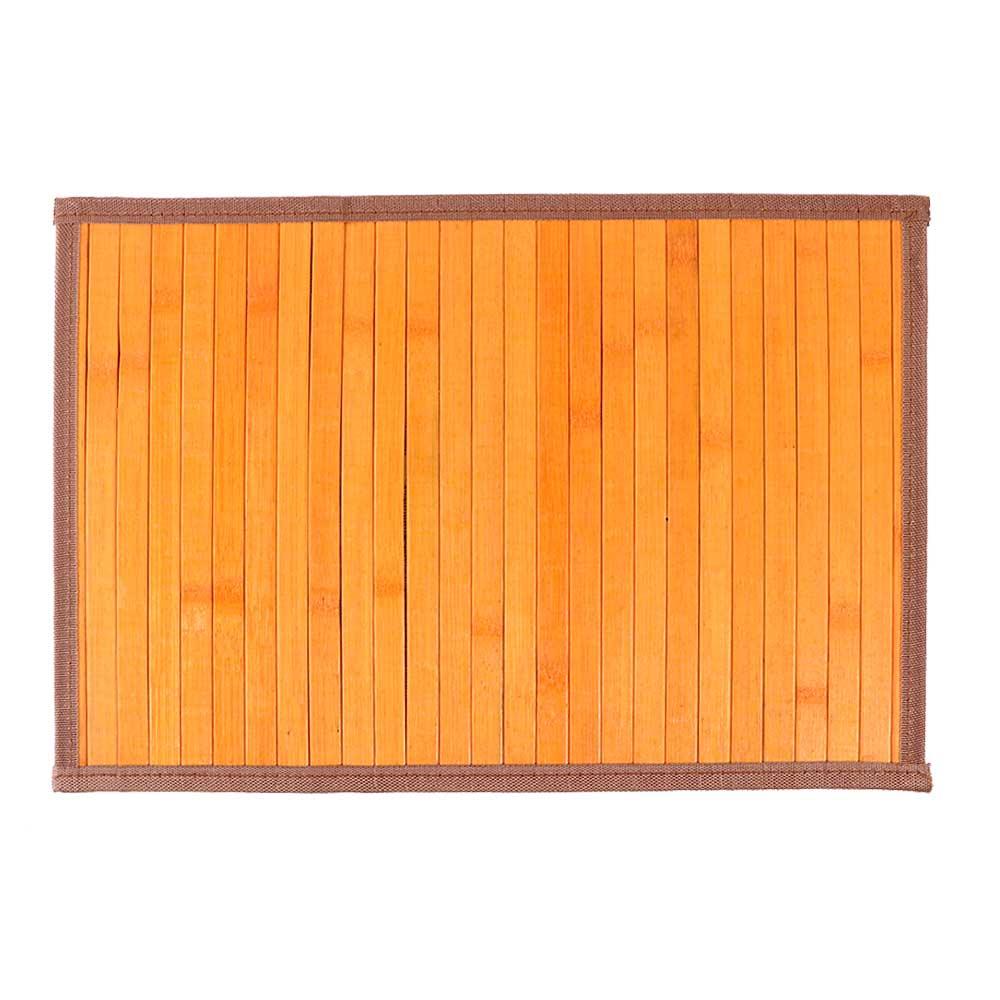 مفرش اطباق الطعام (كوستر) خشبي مخرم قابل للطي لون برتقالي مموج متجر 15 وأقل