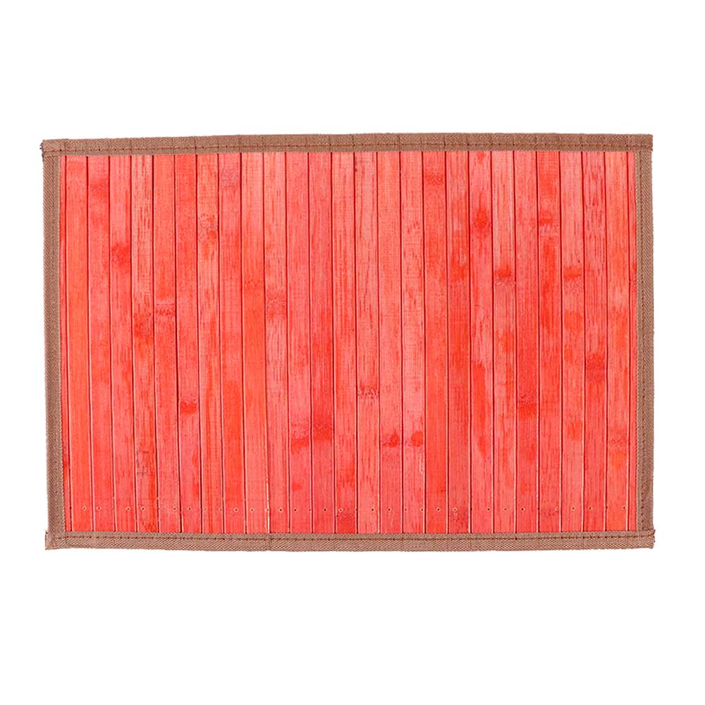 مفرش اطباق الطعام (كوستر) خشبي مخرم قابل للطي لون احمر مموج متجر 15 وأقل
