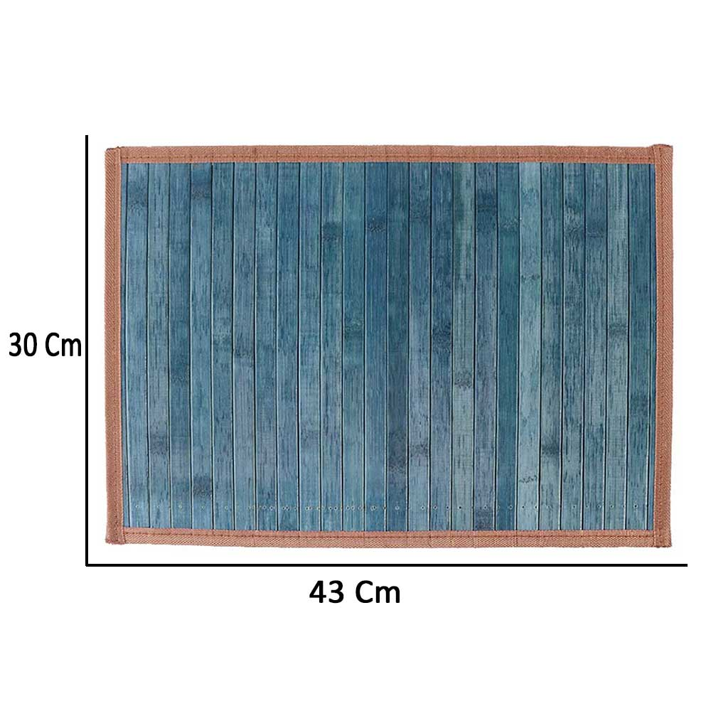 Foldable Perforated Coaster Wooden Dining Dark Indigo Color متجر 15 وأقل