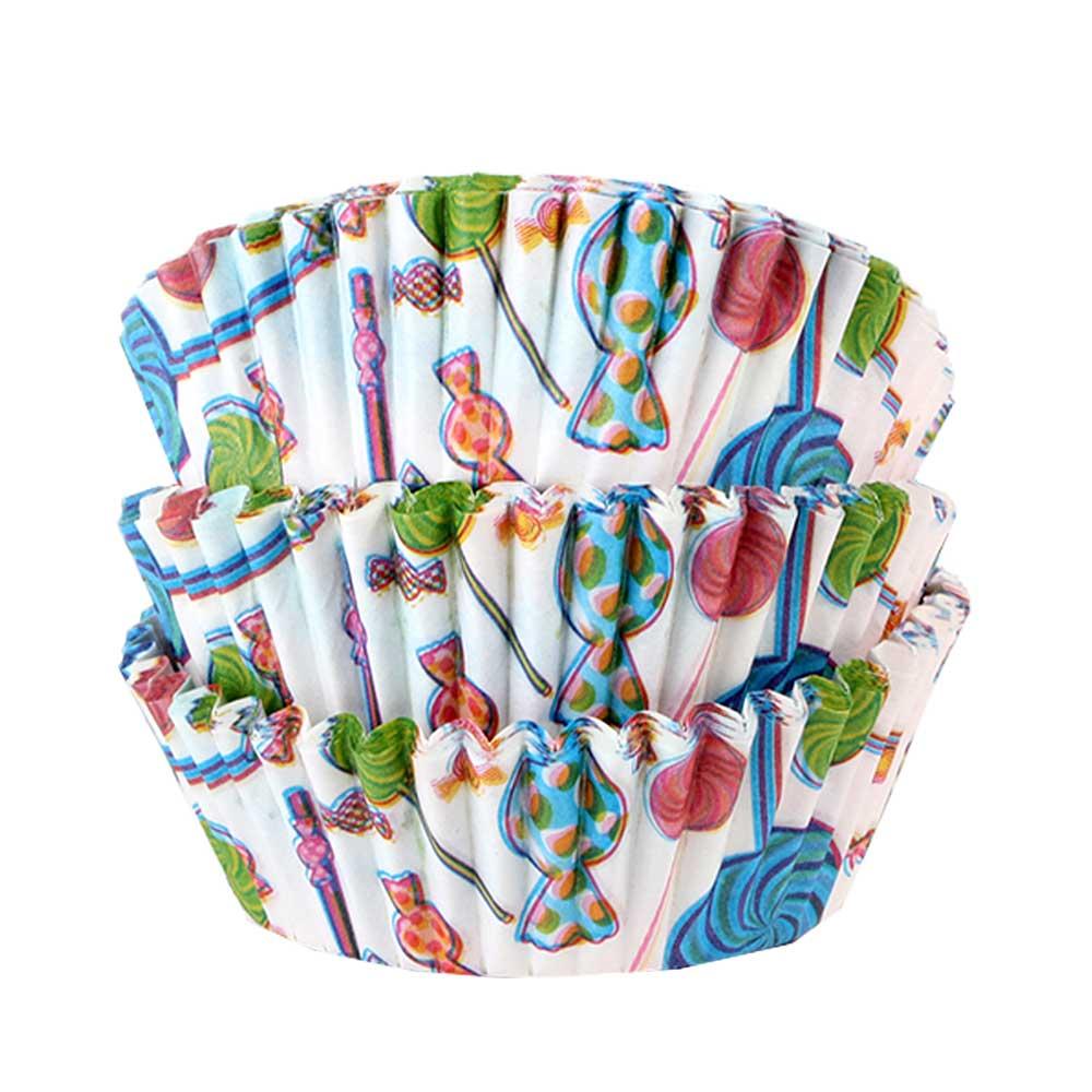 Cupcake - Baking Cups Mold Paper 300 PCS - Sweets Drawings متجر 15 وأقل