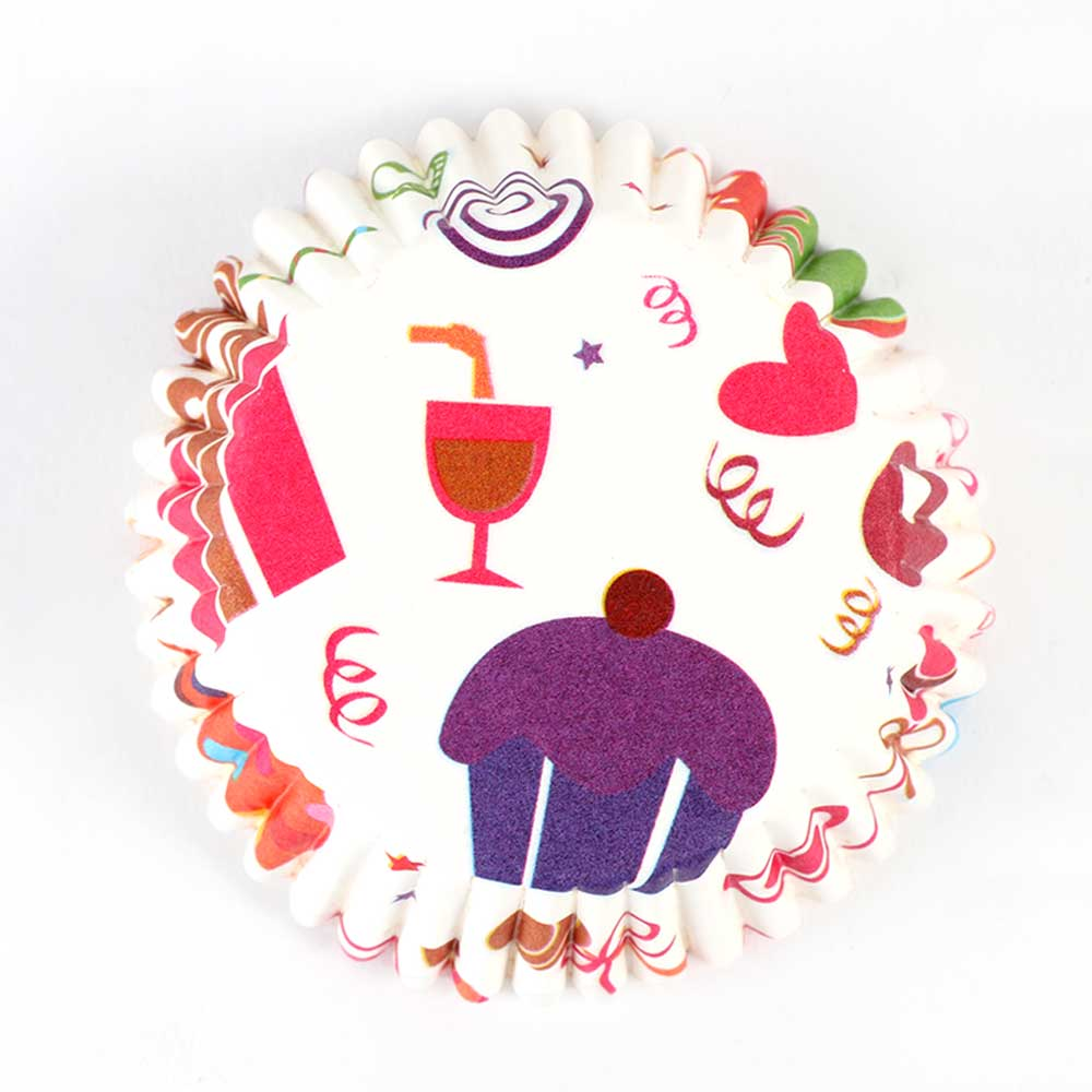 Cupcake - Baking Cups Mold Paper 300 PCS - Fun graphics and gifts متجر 15 وأقل