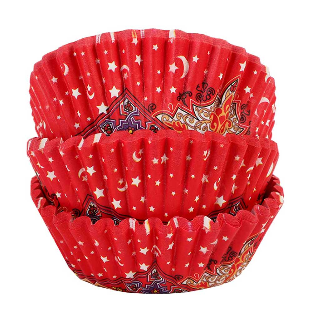 Cupcake - Baking Cups Mold Paper 350 PCS - Ramadan Design متجر 15 وأقل