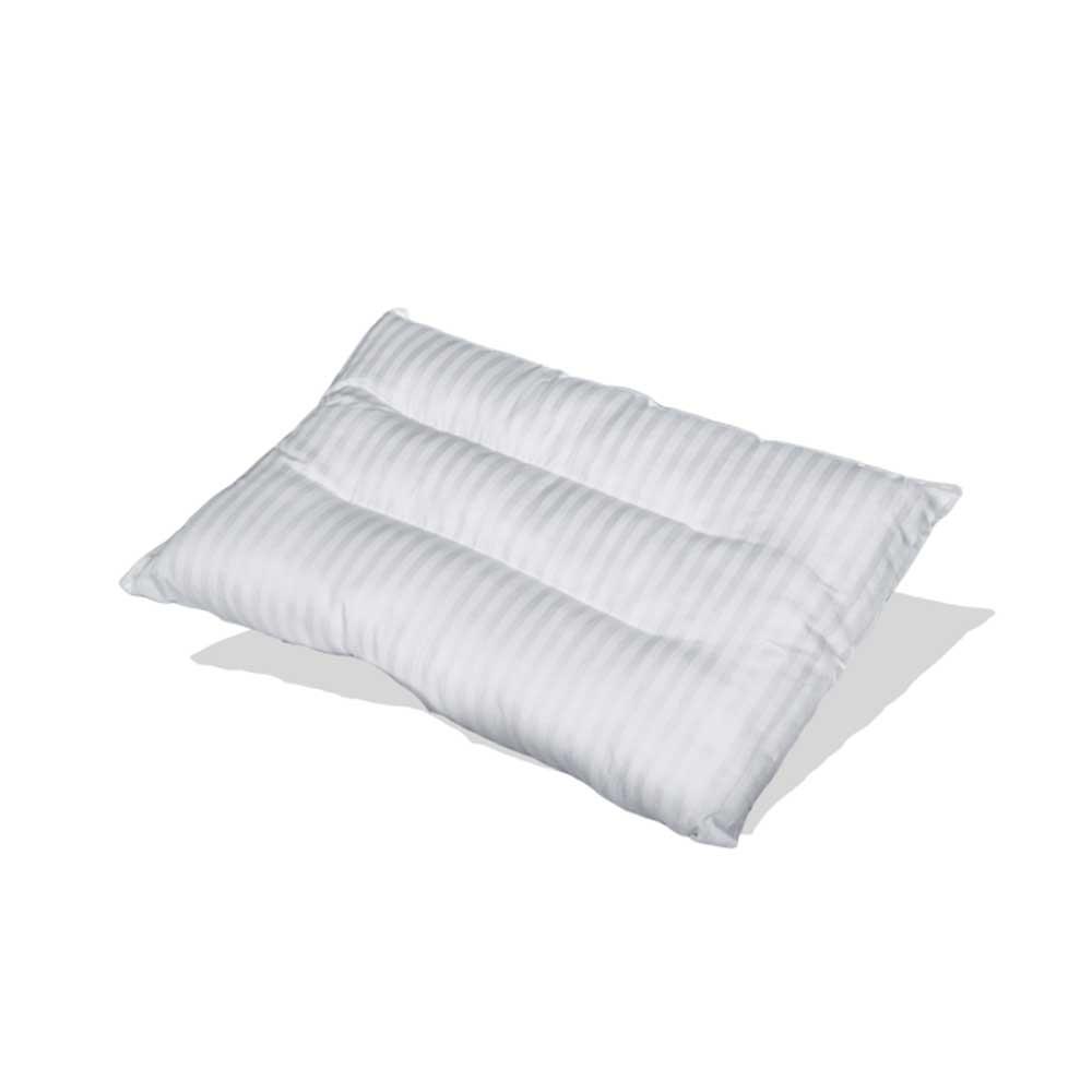 مخدة نوم كبيرة بيضاء مقلمة متجر 15 وأقل