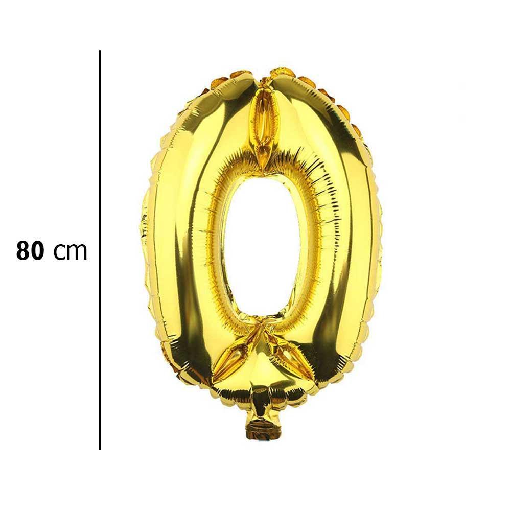 بالون هيليوم ذهبي رقم 0 متجر 15 وأقل