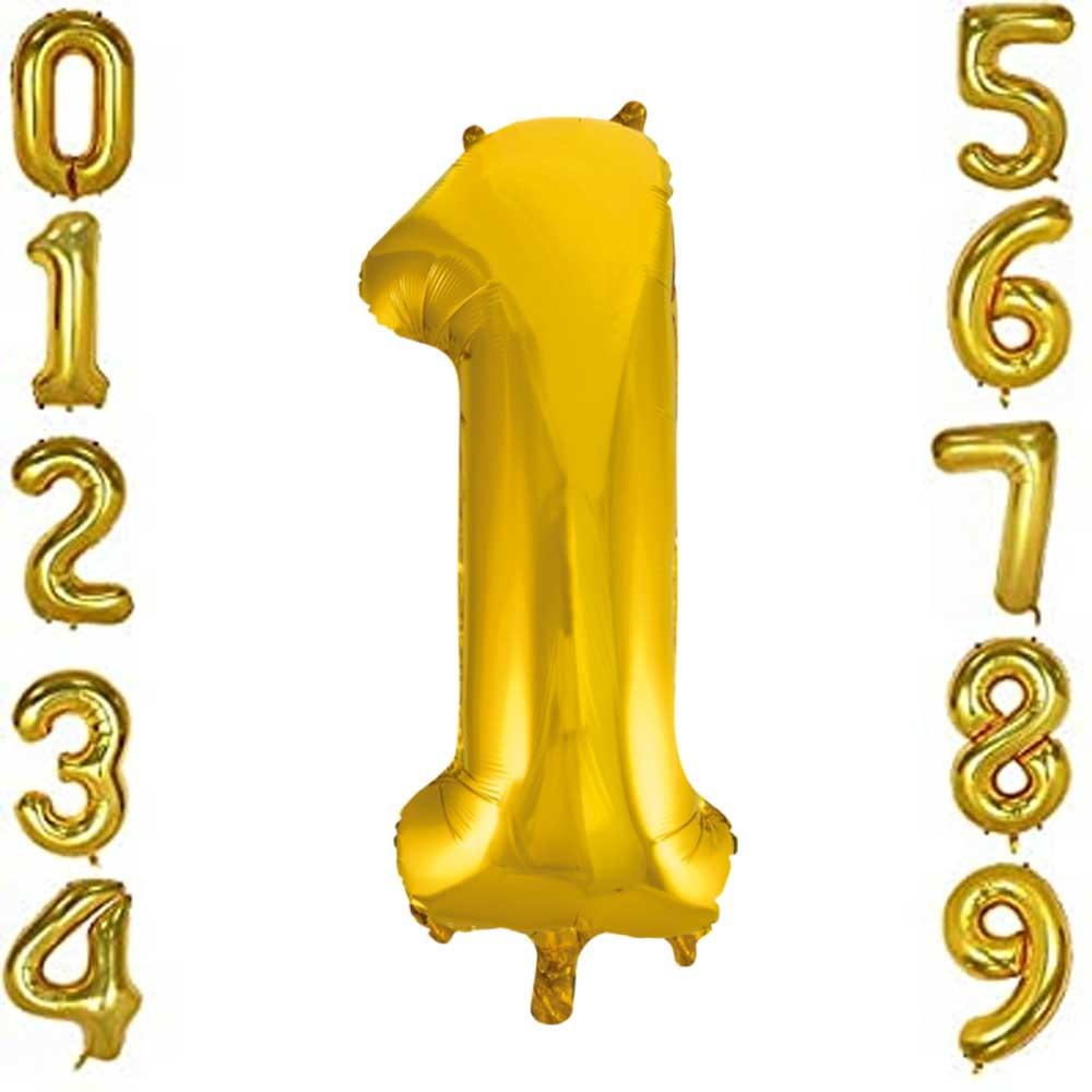 بالون هيليوم ذهبي رقم 1 متجر 15 وأقل
