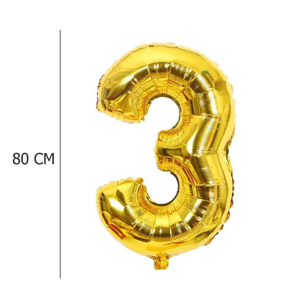 بالون هيليوم ذهبي رقم 3 متجر 15 وأقل