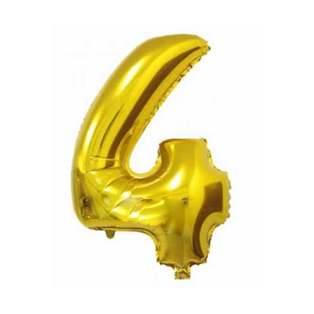 بالون هيليوم ذهبي رقم 4 متجر 15 وأقل