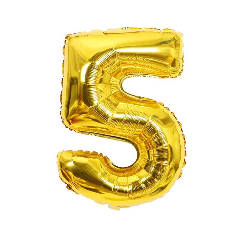 بالون هيليوم ذهبي رقم 5 متجر 15 وأقل