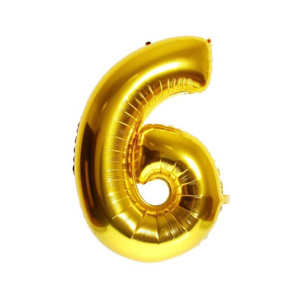 بالون هيليوم ذهبي رقم 6 متجر 15 وأقل