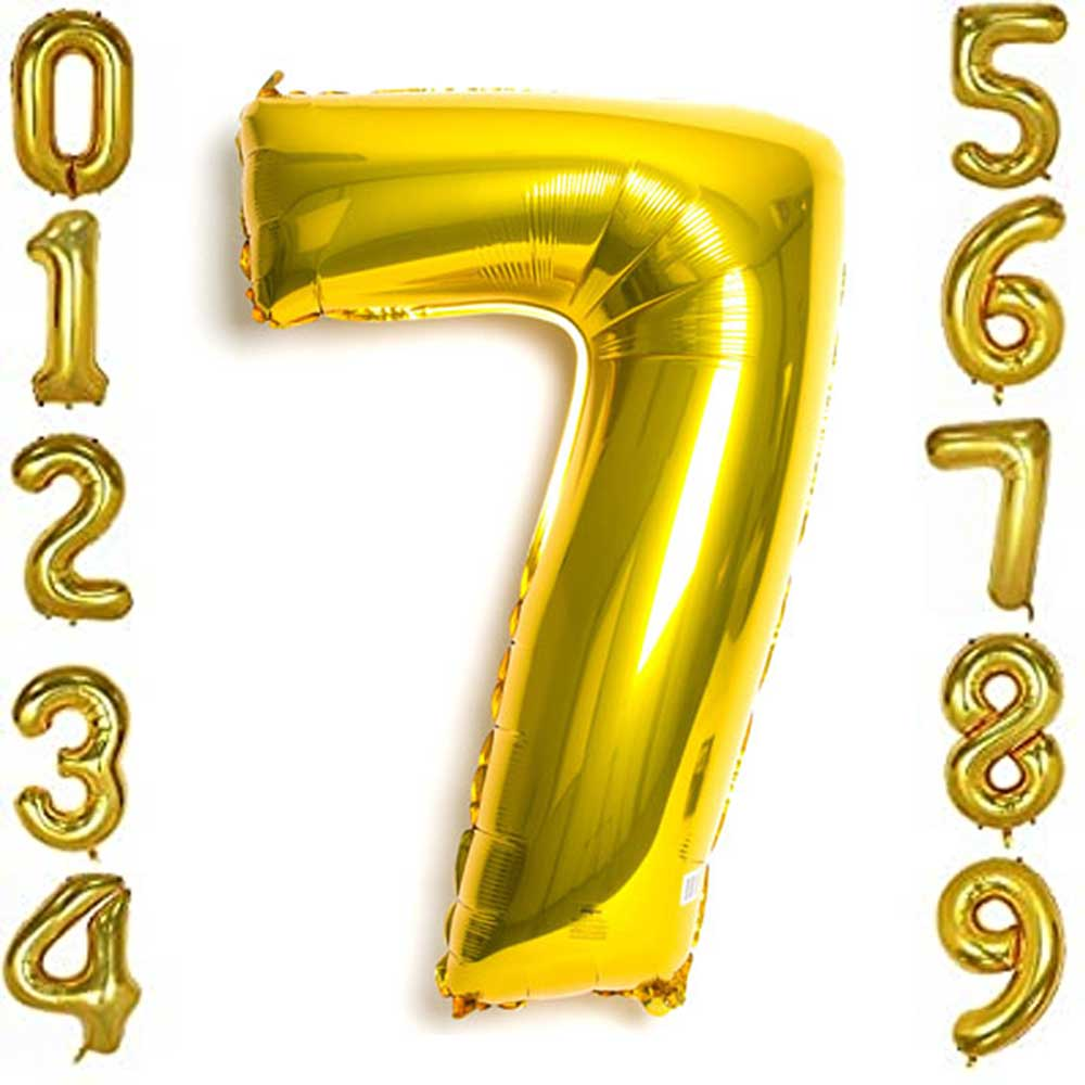 بالون هيليوم ذهبي رقم 7 متجر 15 وأقل