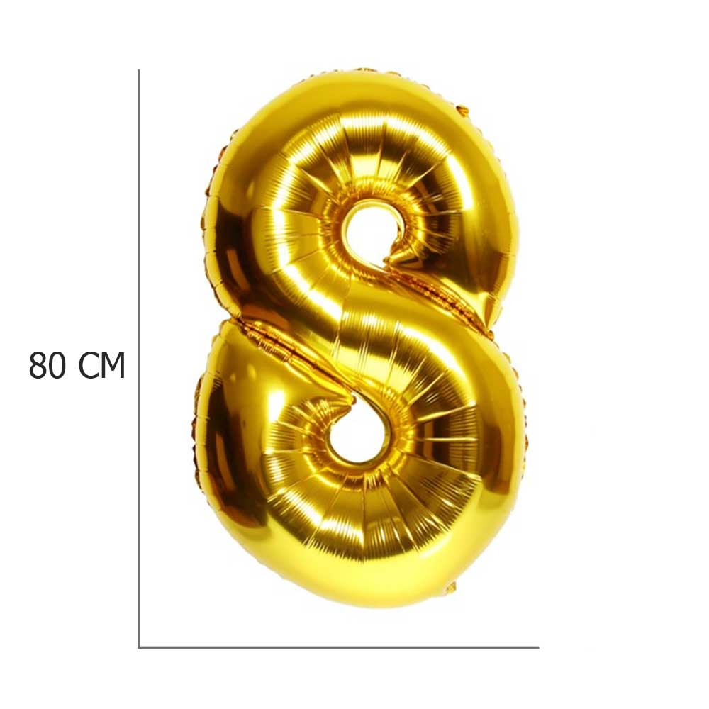 Golden Helium Balloon Number 8 متجر 15 وأقل