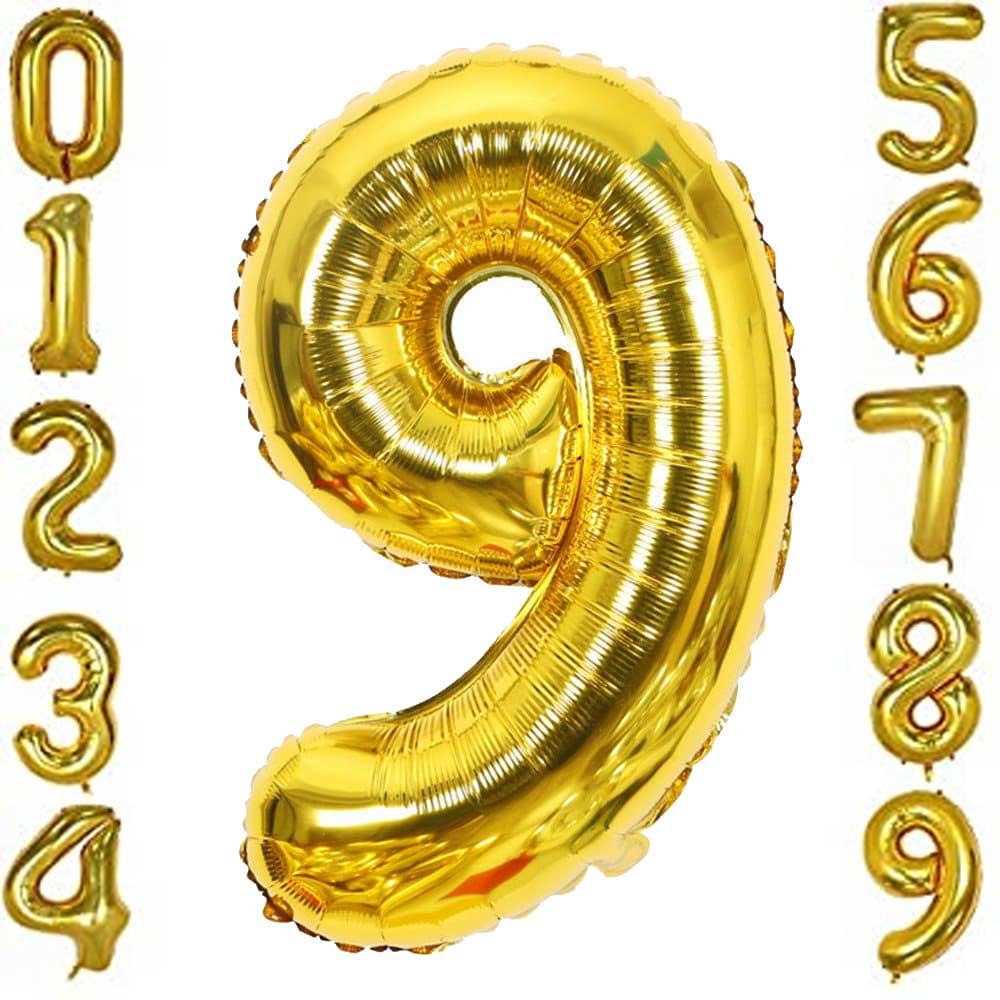 بالون هيليوم ذهبي رقم 9 متجر 15 وأقل