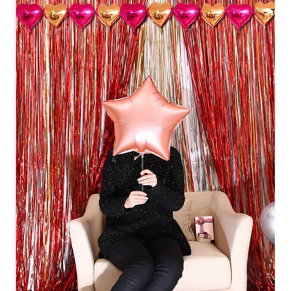 ستارة وزينة تعليق للحفلات أحمر متجر 15 وأقل