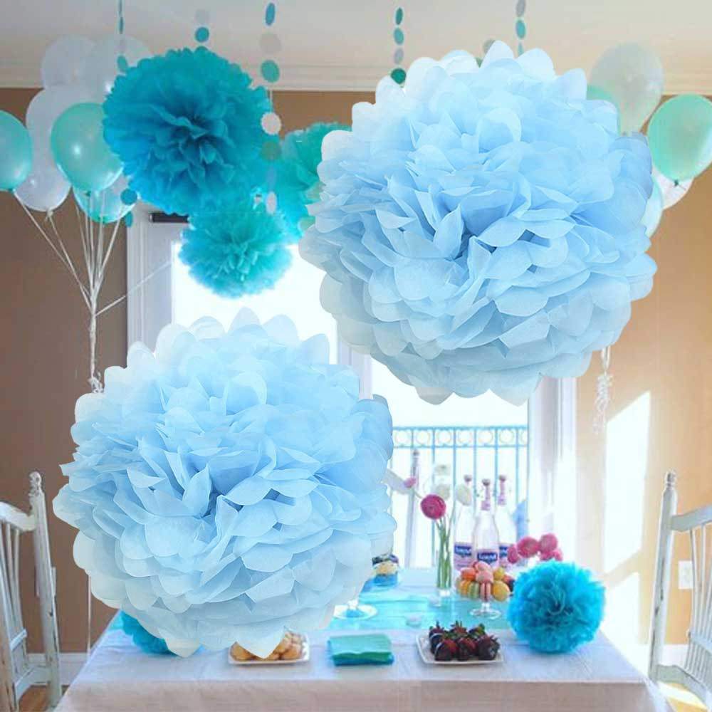 Sphericity Decoration Puff - Hang 2 Pieces Blue متجر 15 وأقل