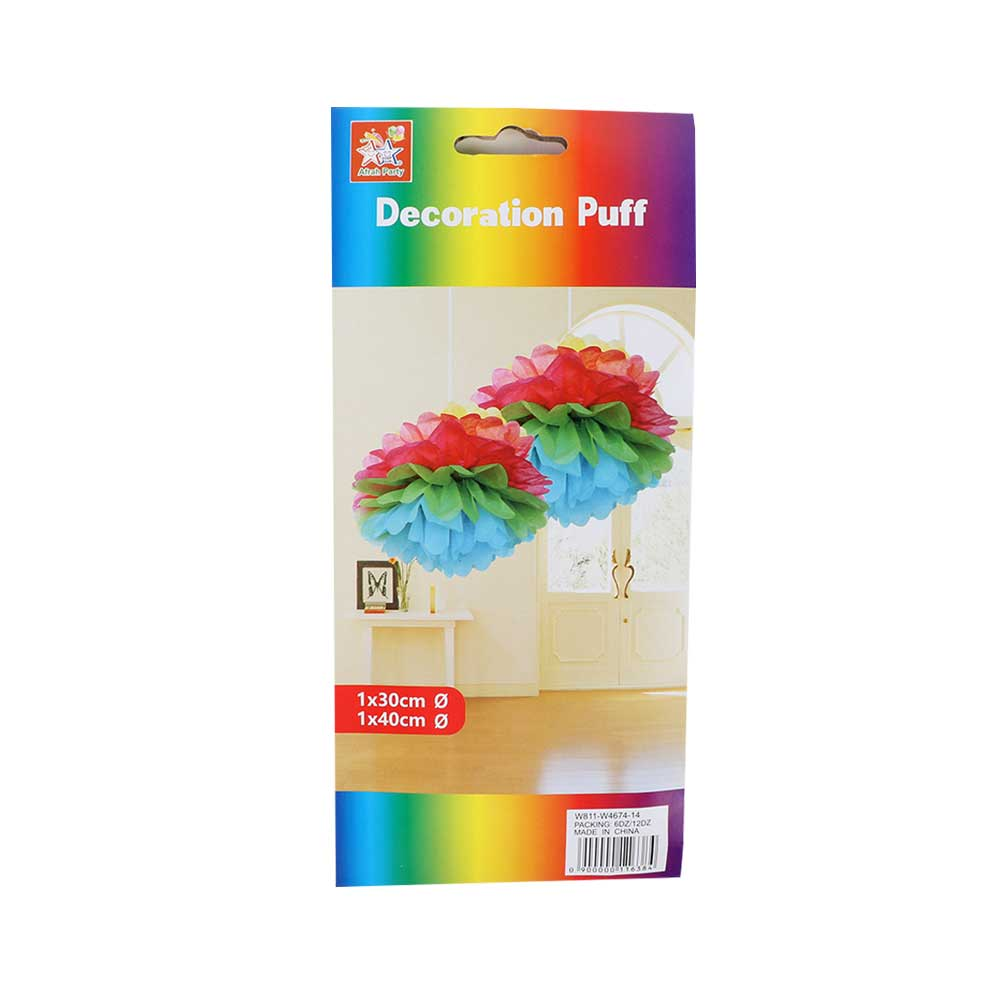 Sphericity Decoration Puff - Hang 2 Pieces Blue Pink متجر 15 وأقل