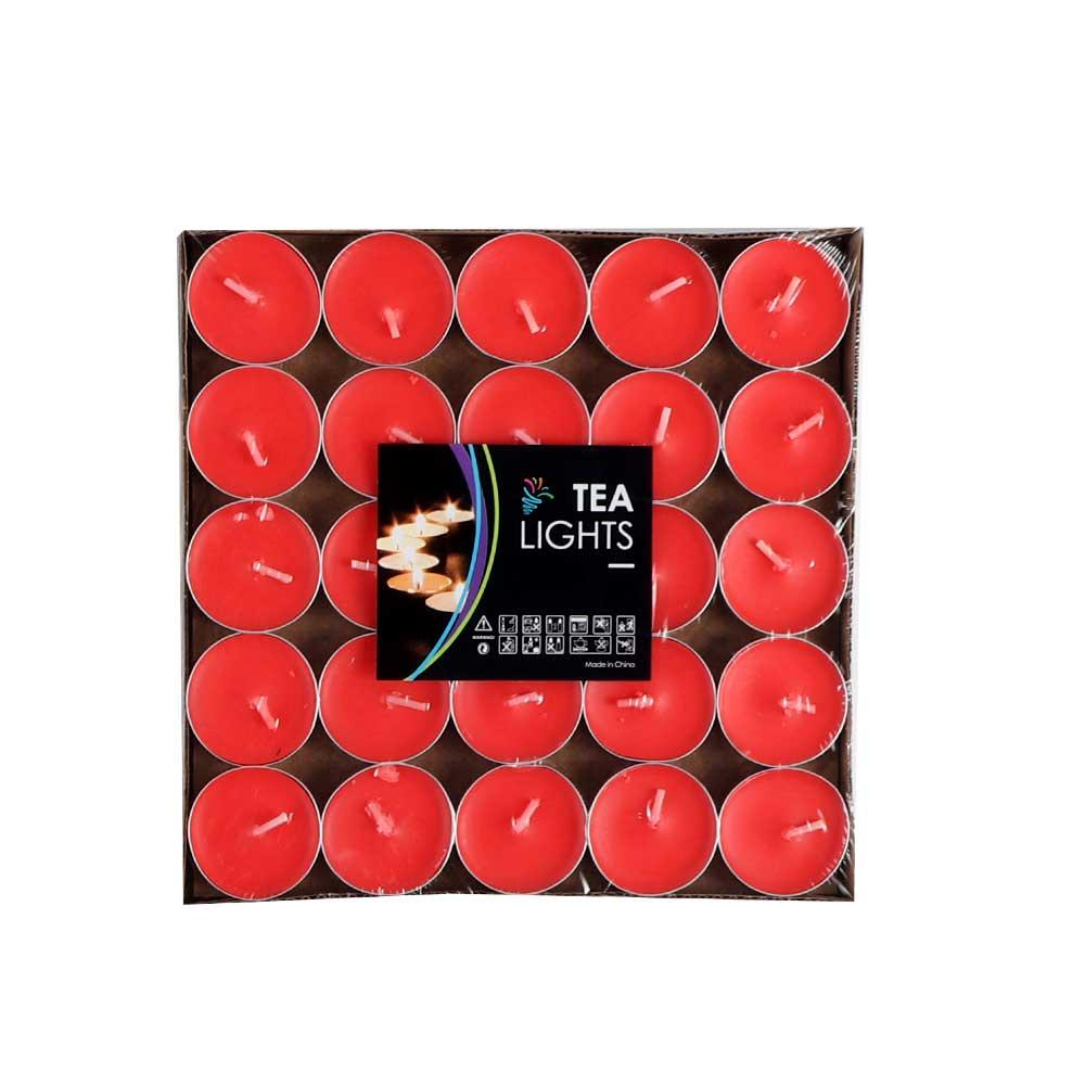 شموع الفواحة ملونة 50 قطعة أحمر متجر 15 وأقل