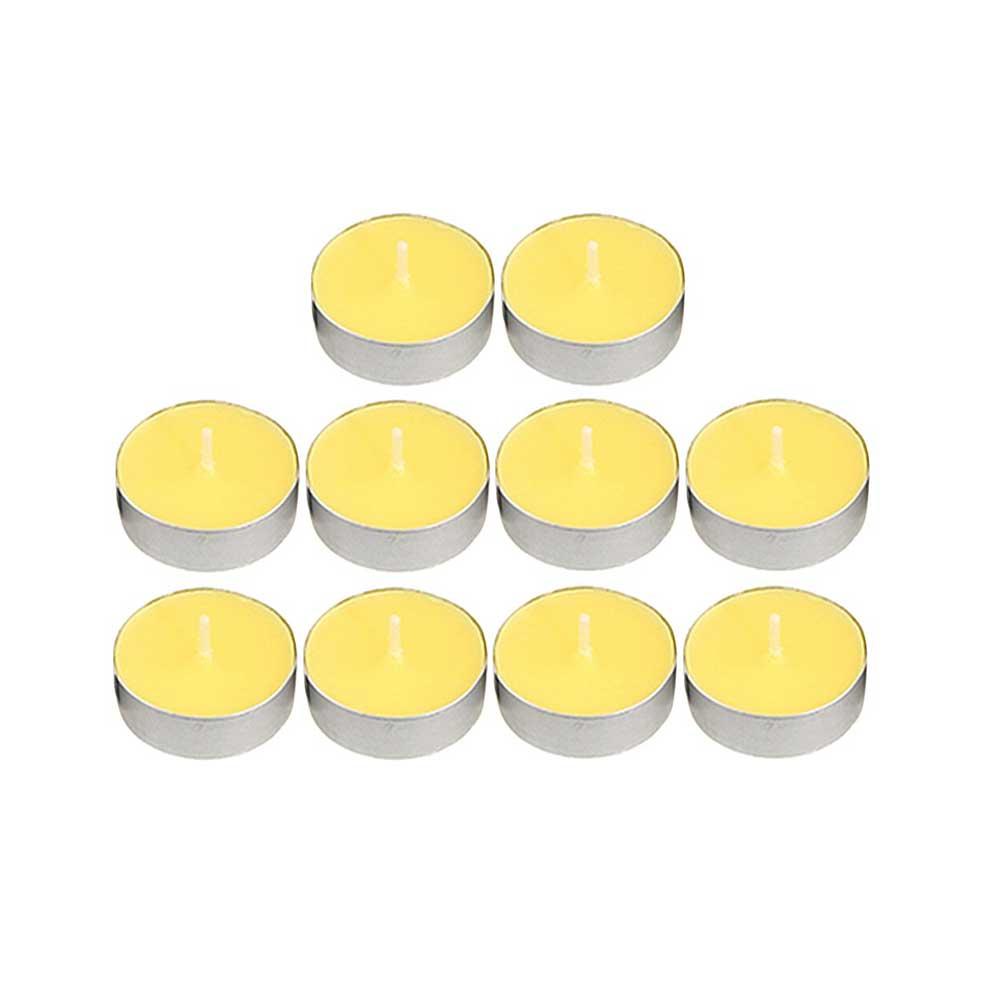 شموع الفواحة ملونة 50 قطعة أصفر متجر 15 وأقل