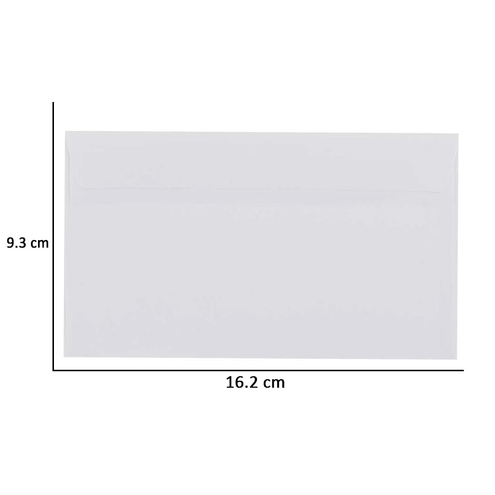 Noble medium white envelope 16 * 9.5 cm 25 PCS متجر 15 وأقل