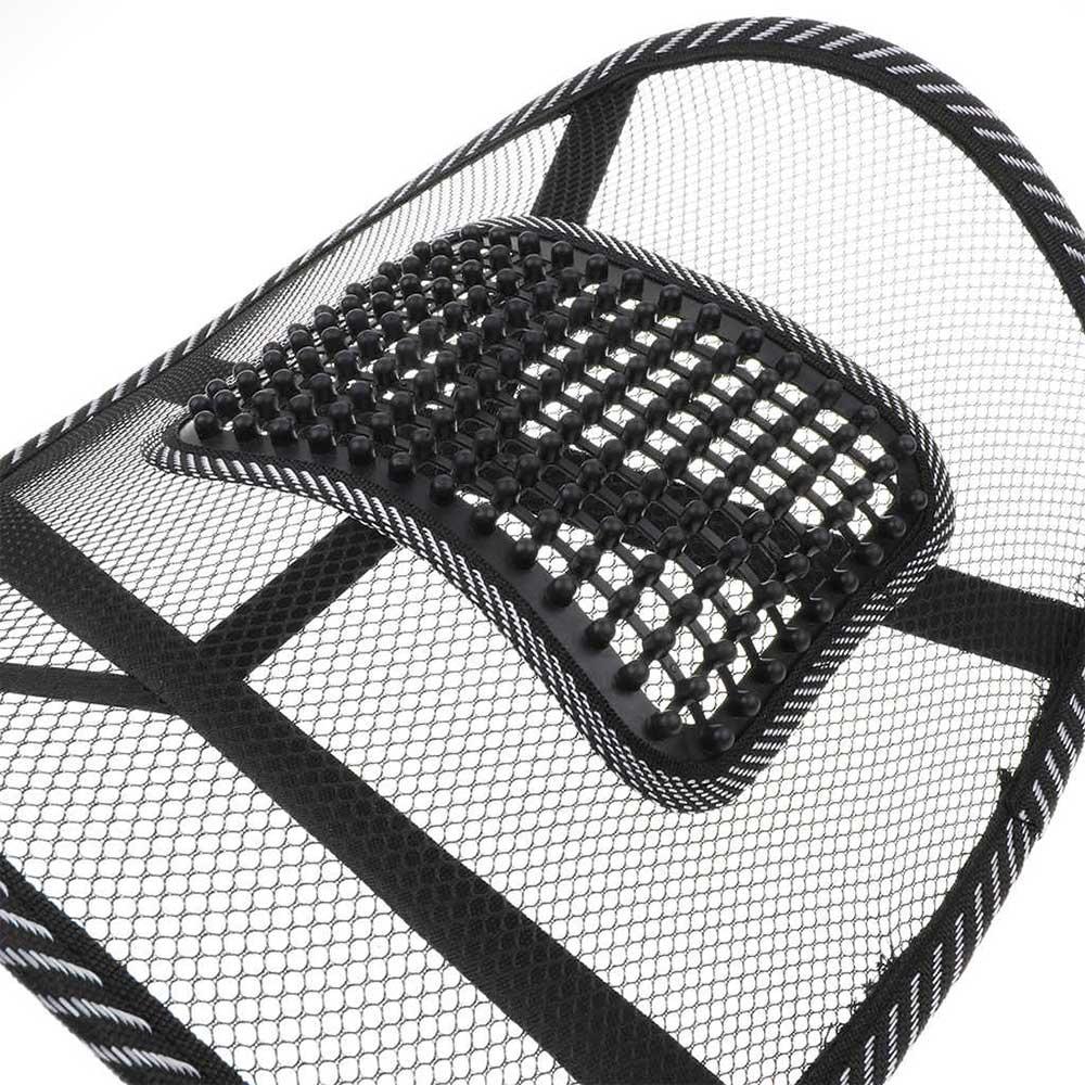 داعم شبكي لكراسي الظهر لحماية الفقرات لون اسود متجر 15 وأقل