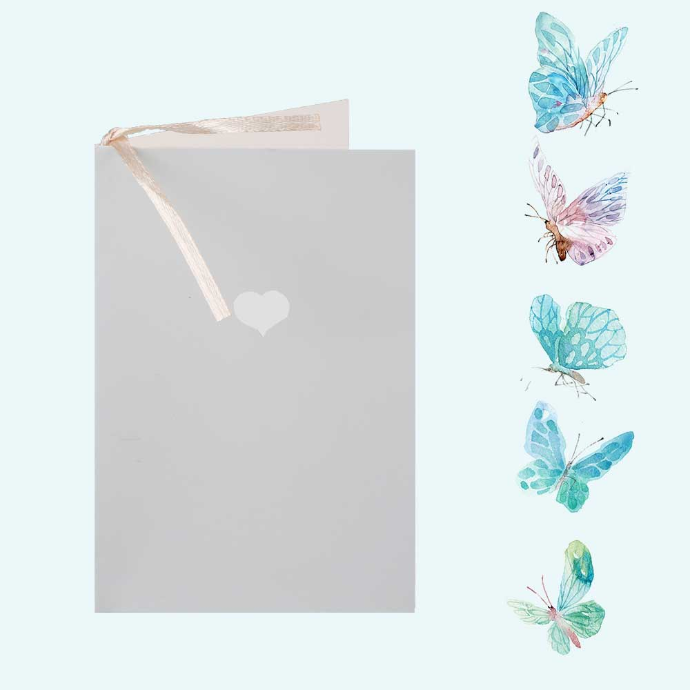 Colorful gift card with heart print Light grey متجر 15 وأقل