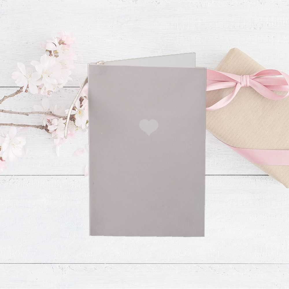 Colorful gift card with heart print Coffee colour متجر 15 وأقل