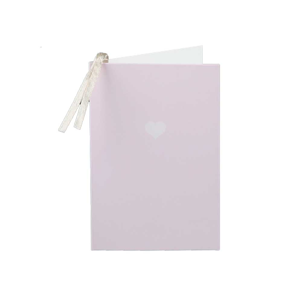 Colorful gift card with heart print Pastel purple متجر 15 وأقل
