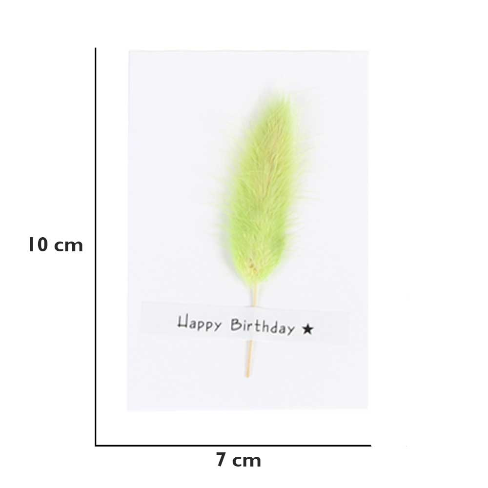 """White Gift Card """"Happy Birthday"""" with feather متجر 15 وأقل"""