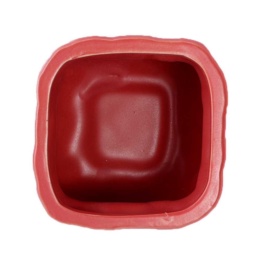 فازة سيراميك مربعة بنقشة طوب ولون طوبي أحمر متجر 15 وأقل