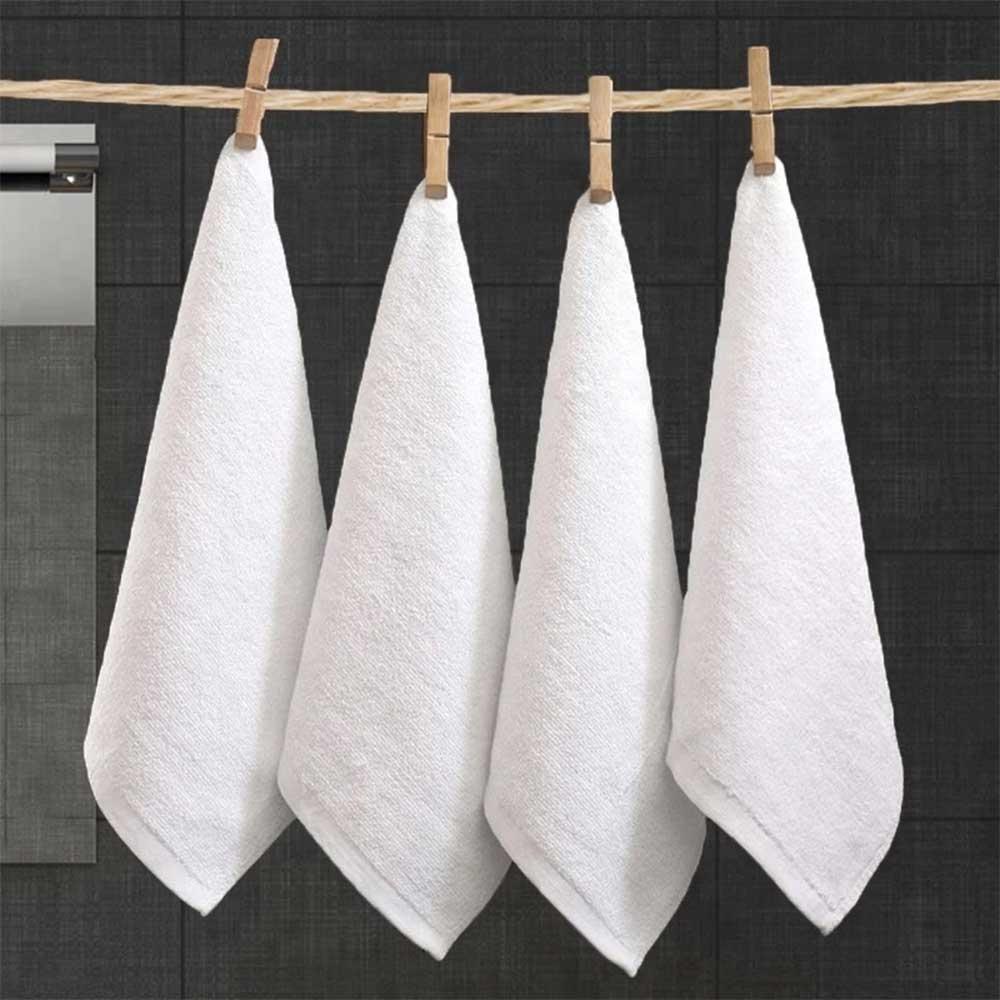 White Towels 46 x 39 cm 4 pcs متجر 15 وأقل
