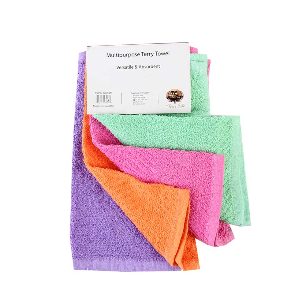 kitchen towels 4 pieces Pink متجر 15 وأقل