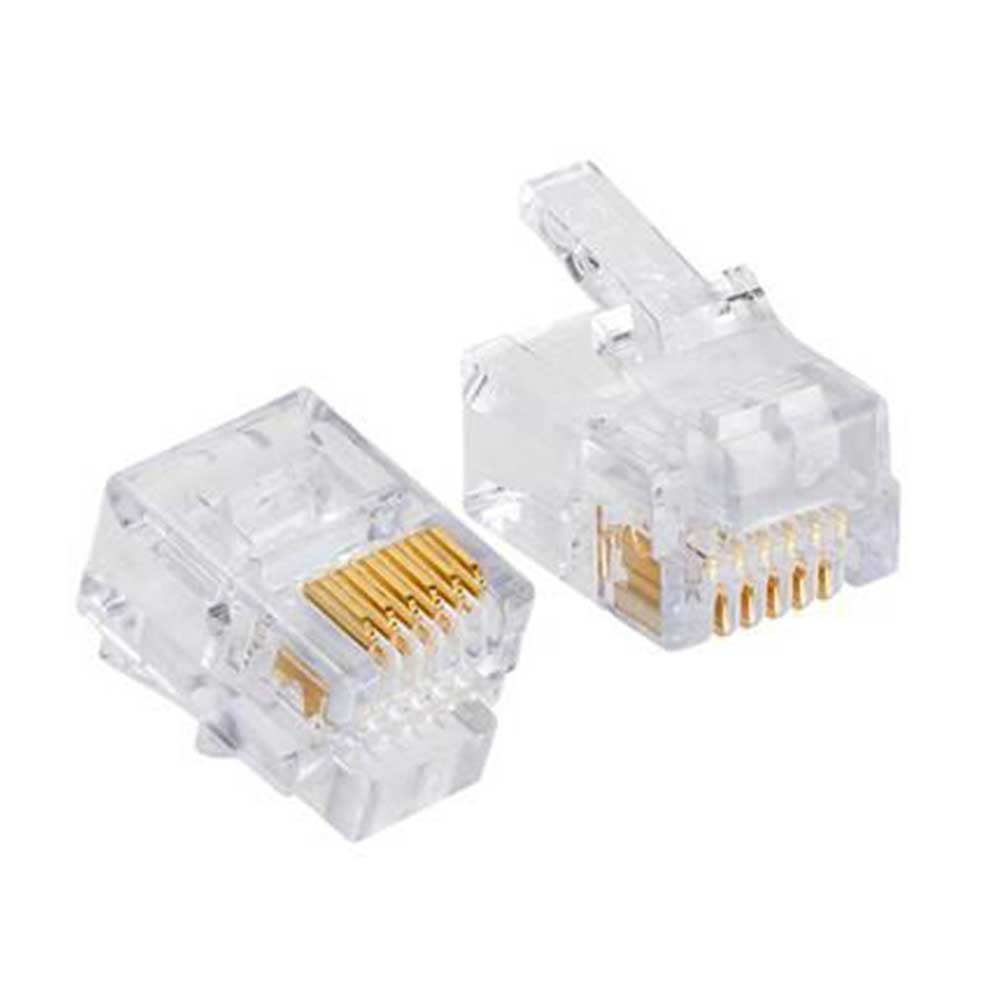 Telephone line connector head 10 Pcs RJ11 متجر 15 وأقل