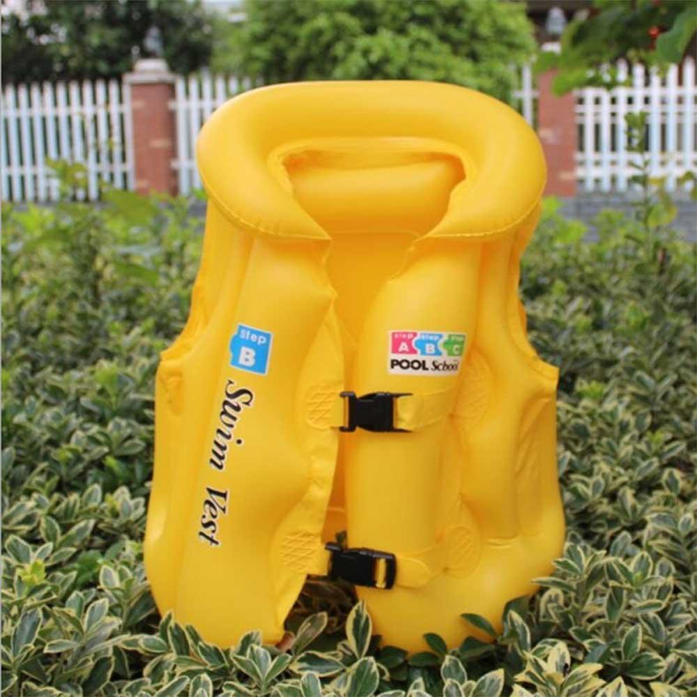 سترة سباحة للأطفال مقاس وسط أصفر متجر 15 وأقل