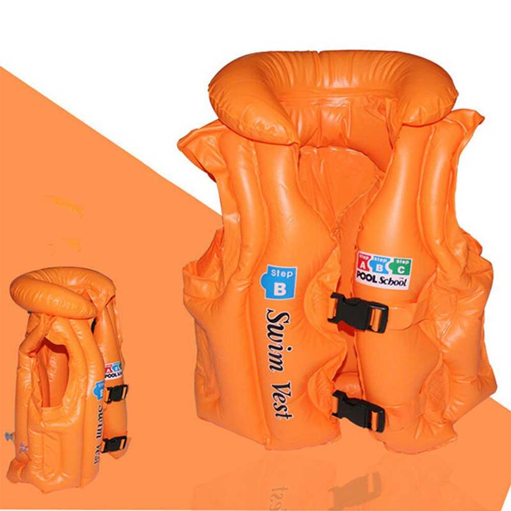سترة سباحة للأطفال مقاس وسط برتقالي متجر 15 وأقل