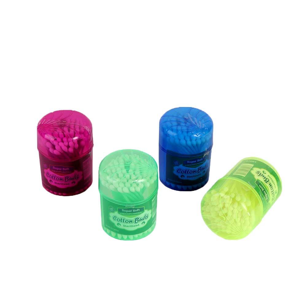 أعواد قطن لتنظيف الأذن الخارجية 100 عود - الوان مختارة غير محددة متجر 15 وأقل