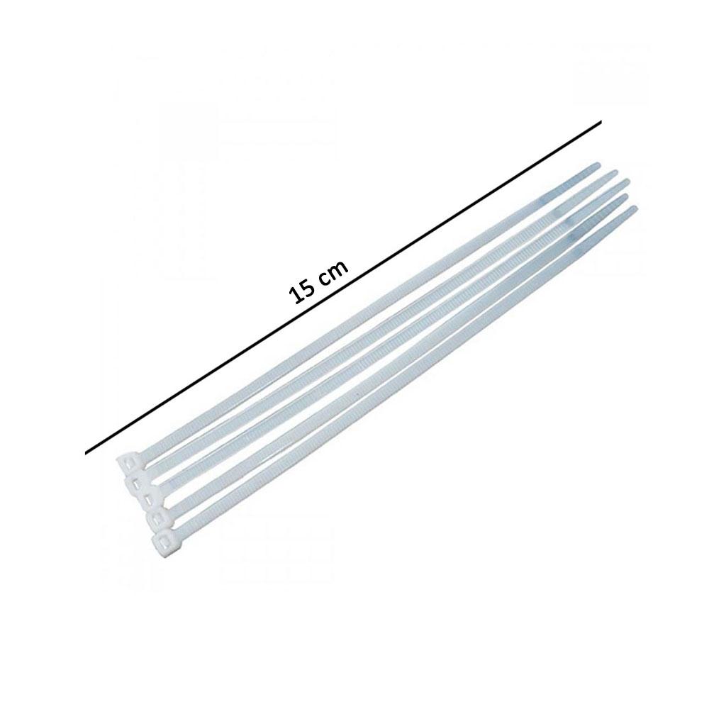 رباط كيبل بلاستيك 15 سم لون أبيض 10 قطع متجر 15 وأقل