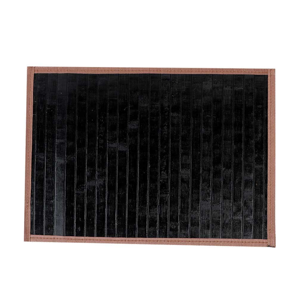 Foldable Perforated Coaster Wooden Dining, Wavy Black Color متجر 15 وأقل