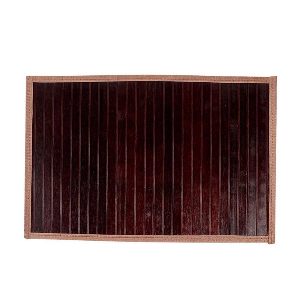 مفرش اطباق الطعام (كوستر) خشبي مخرم قابل للطي لون بني مموج متجر 15 وأقل