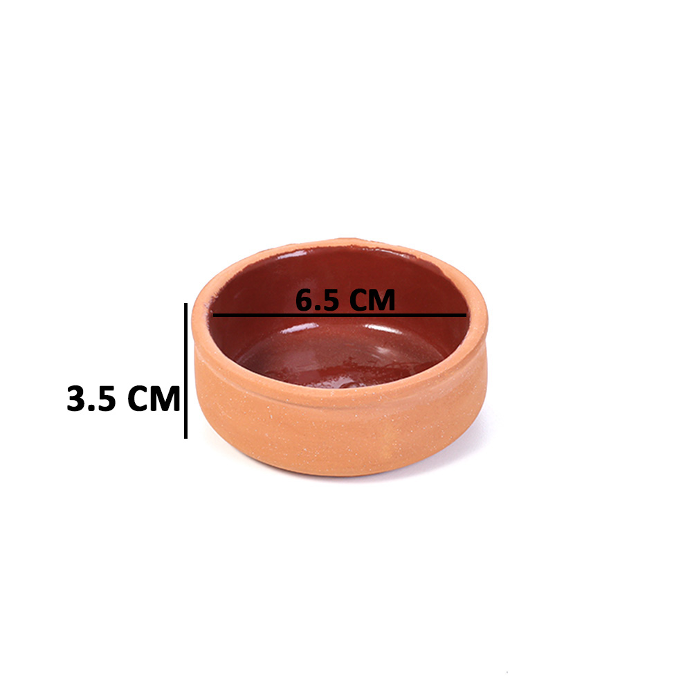 Pottery Tray 6.5cm for Hot & Cold Cooking 4PC متجر 15 وأقل