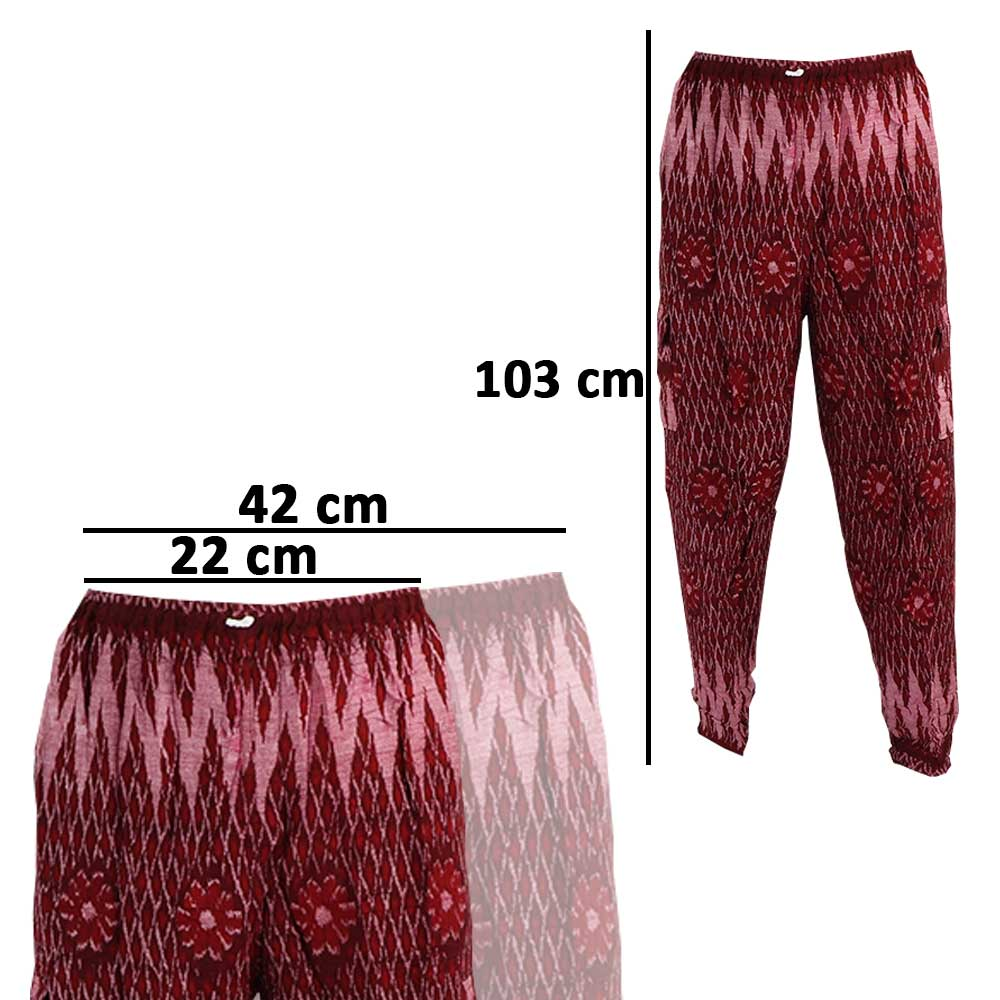 بنطال فضفاض (صارون / فوطة ) شبابية مقاس 30 - 36 لون أحمر متجر 15 وأقل