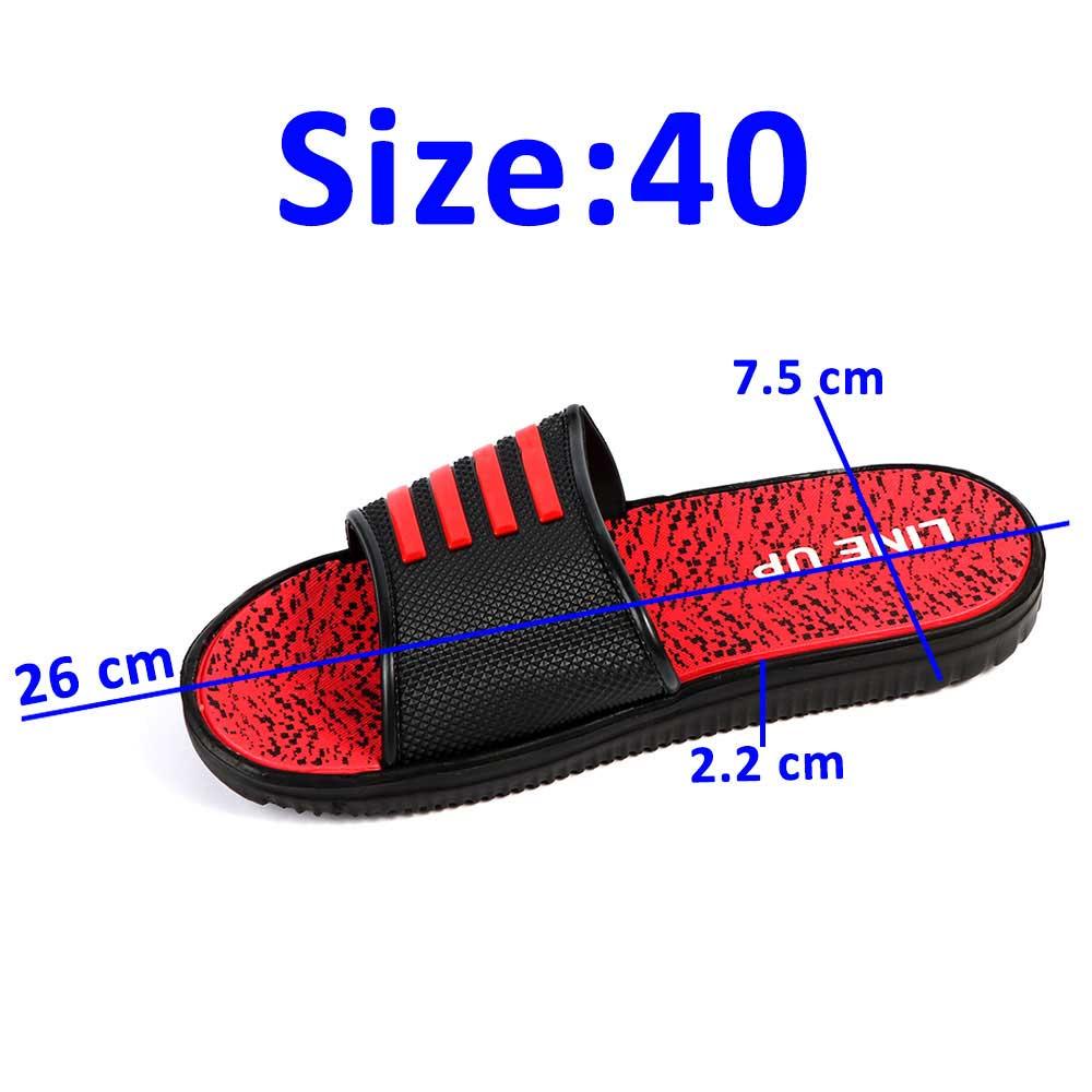 حذاء إسفنجي مطاطي خفيف لون أحمر أسود مقاس 40 متجر 15 وأقل